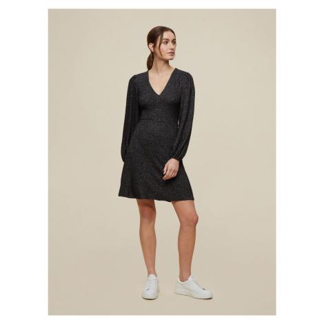 Dorothy Perkins ciemno szara sukienka swetrowa