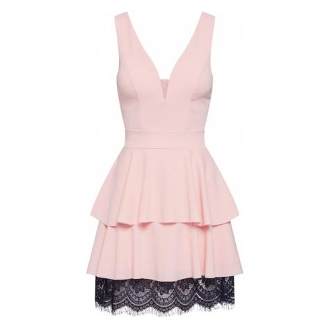 WAL G. Sukienka różowy pudrowy / czarny