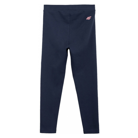 Spodnie legginsy dla dziewcząt 4F HJL21-JLEG001A