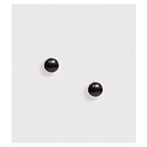 DesignB black stud earrings in sterling silver DesignB London