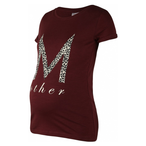 MAMALICIOUS Koszulka czekoladowy Mama Licious