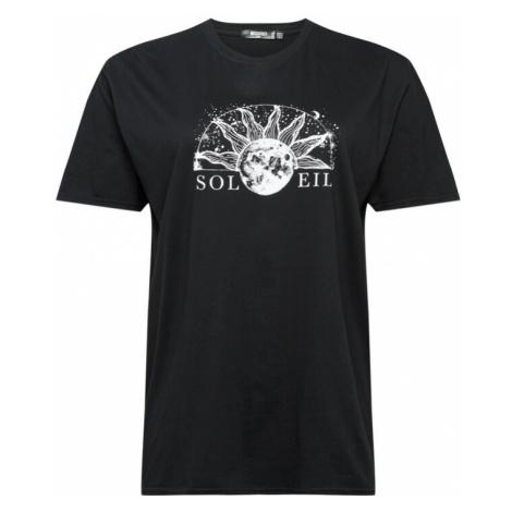 Missguided Plus Koszulka czarny / biały