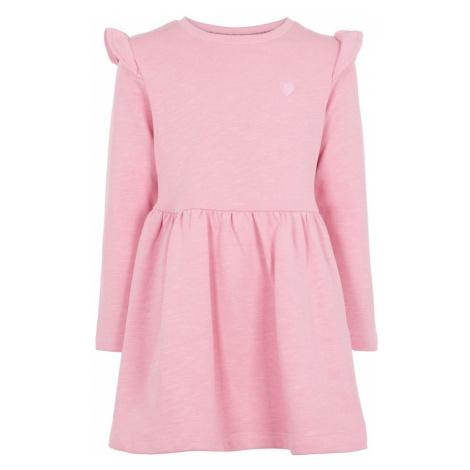 NAME IT Sukienka 'NMFNELIS LS SWEAT DRESS BRU' mieszane kolory / różowy
