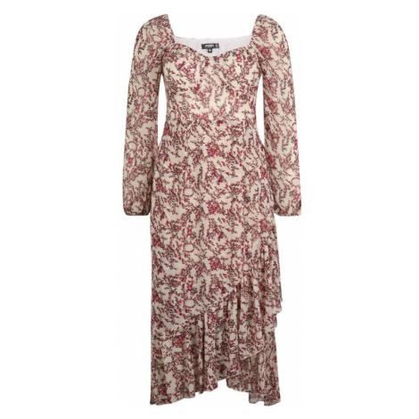 Missguided (Petite) Sukienka 'Milkmaid Ditsy' czerwony / stary róż