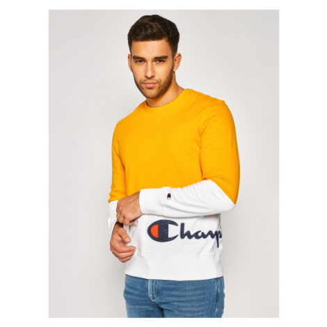 Champion Bluza Colour Block Wraparound 214206 Żółty Regular Fit