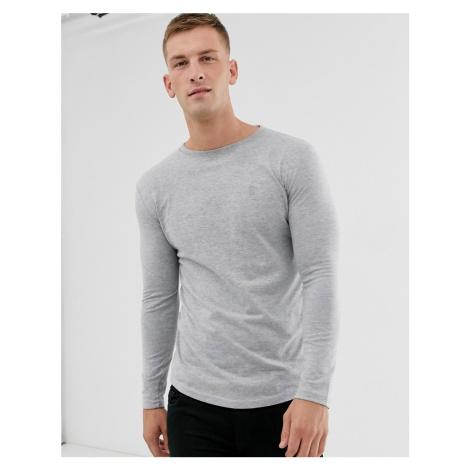 Soul Star long sleeve top in grey melange