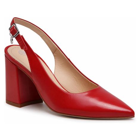 Sandały SOLO FEMME - 75414-89-I85/000-05-00 Czerwony