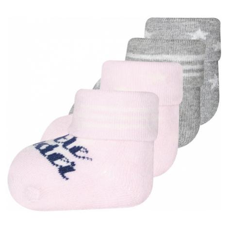 EWERS Skarpety 'Little wonder' różowy pudrowy / nakrapiany szary / jasnoszary / ciemny niebieski
