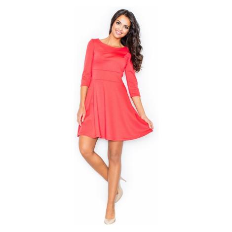 Sukienka kobiety Figl M081 Koral