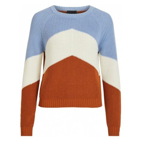OBJECT Sweter jasnoniebieski / rdzawobrązowy / naturalna biel