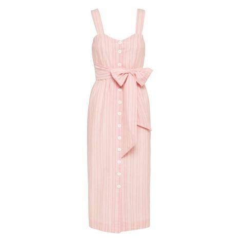 EDITED Letnia sukienka 'Mika' różowy pudrowy / różany / biały