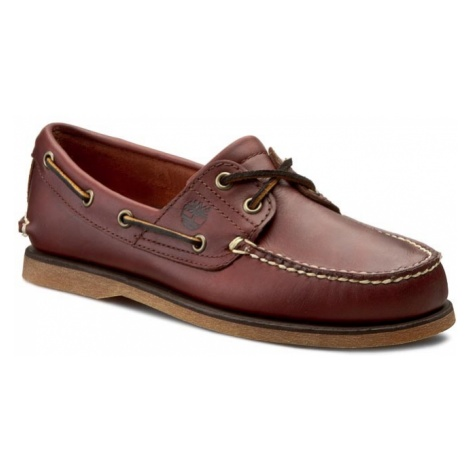 Mokasyny TIMBERLAND - ClS2I Boat Rootbeer Sm 25077/TB0250772141 Brązowy