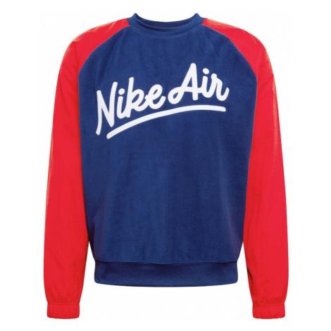 Nike Sportswear Bluzka sportowa biały / ciemny niebieski / jasnoczerwony