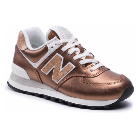 Sneakersy NEW BALANCE - WL574PT2 Brązowy