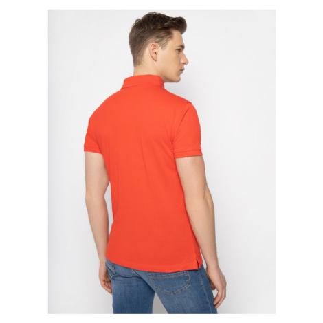 Trussardi Jeans Polo 52T00349 Czerwony Regular Fit