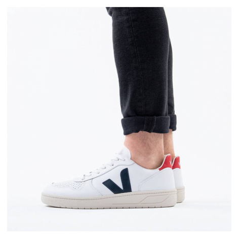 Buty sneakersy Veja V-10 Leather Extra White Nautico Pekin VX021267