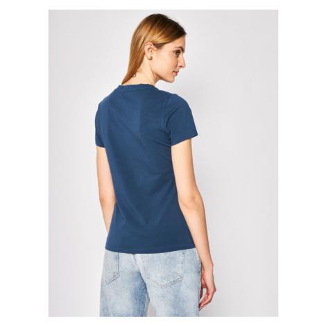Trussardi Jeans T-Shirt 56T00243 Granatowy Slim Fit