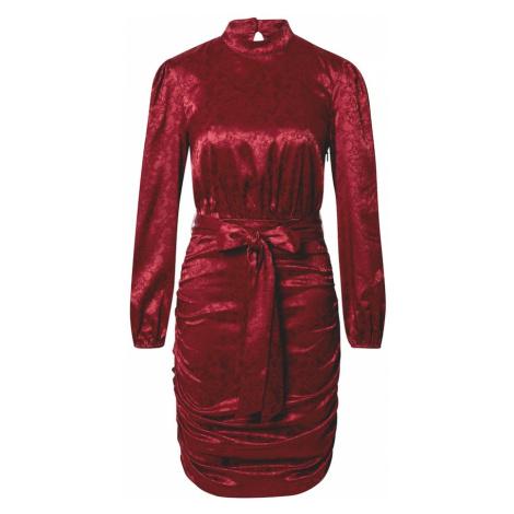 Chi Chi London Sukienka koszulowa 'Camile' burgund