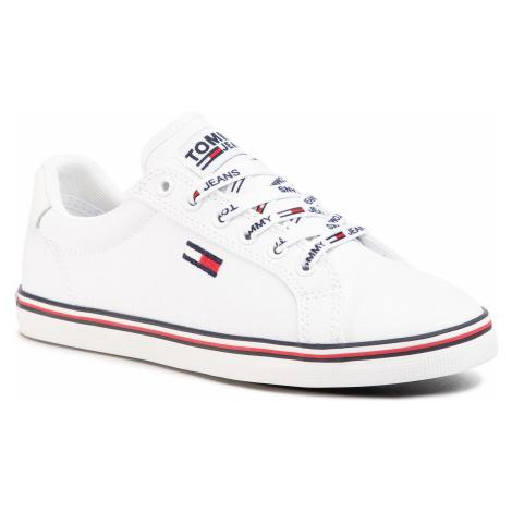 Tenisówki TOMMY JEANS - Essential Lace Up Sneaker EN0EN00786 White YBS Tommy Hilfiger