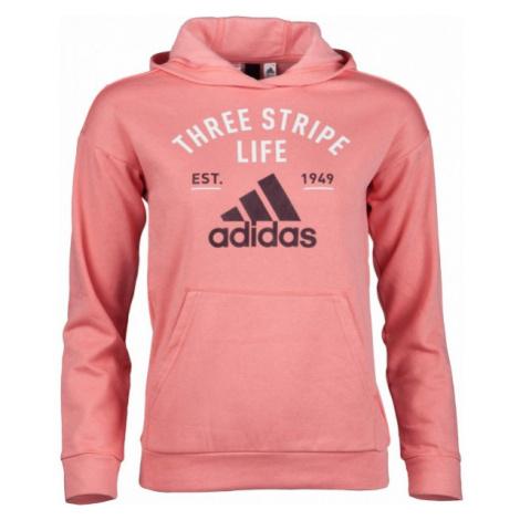 adidas KIDS HOODY GRAPHIC ROSE różowy 140 - Bluza dziecięca