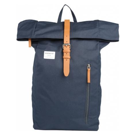 SANDQVIST Plecak 'Dante' niebieski / brązowy