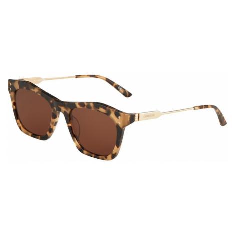 Calvin Klein Okulary przeciwsłoneczne 'CK20700S' brązowy / beżowy