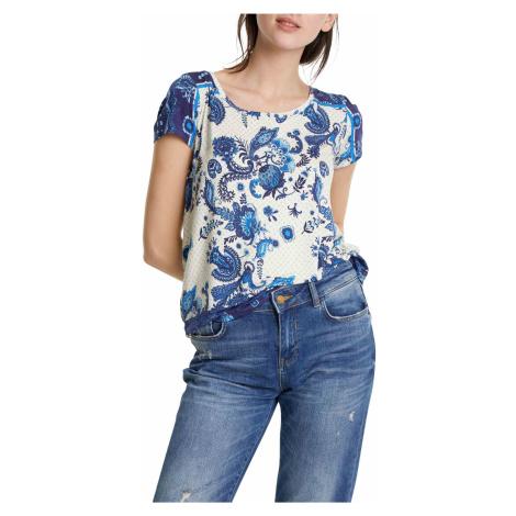Desigual koszulka TS Melian z niebieskim motywem