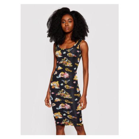 Versace Jeans Couture Sukienka codzienna D2HWA409 Czarny Slim Fit