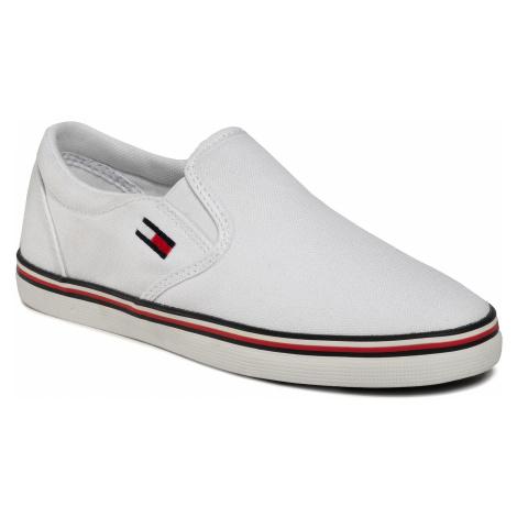 Tenisówki TOMMY JEANS - Essential Slip On Sneaker EN0EN00782 White YBS Tommy Hilfiger