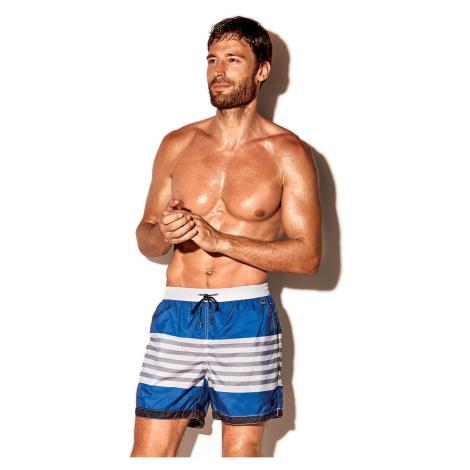 Męskie szorty kąpielowe Caicco niebiesko-białe David 52