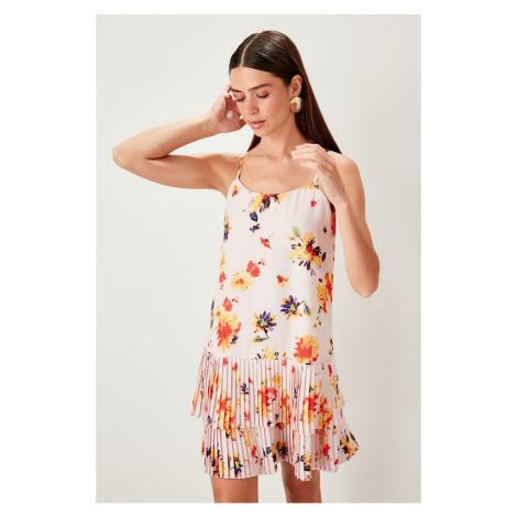 Trendyol Powder pleated patterned Dress