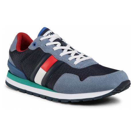 Sneakersy TOMMY JEANS - Lifestyle Sneaker EM0EM00492 Faded Ink C0Z Tommy Hilfiger