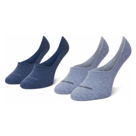 Calvin Klein Zestaw 2 par stopek damskich 100001902 Niebieski