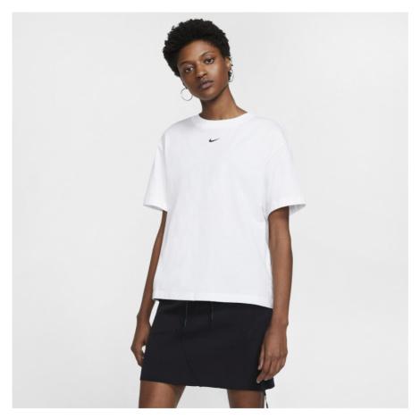 Damska koszulka z krótkim rękawem Nike Sportswear Essential - Biel