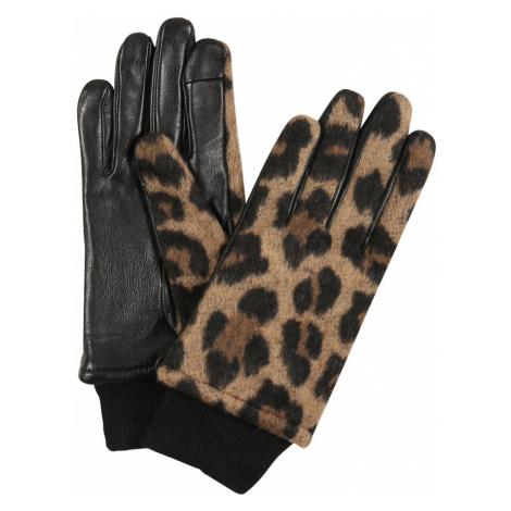 ONLY Rękawiczki pięciopalczaste czarny / ciemnożółty / brązowy