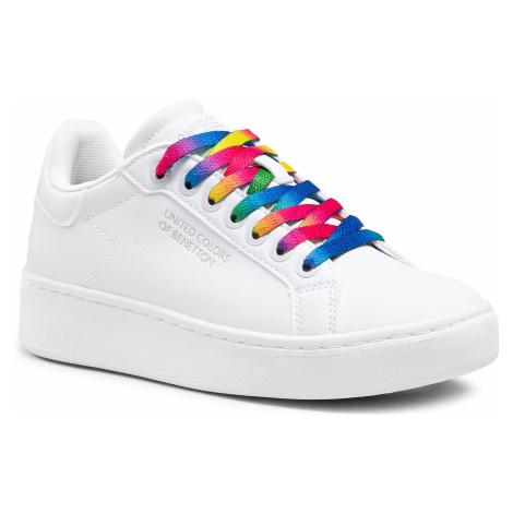 Sneakersy UNITED COLORS OF BENETTON - Triple L Multi BTW114204 White 1010