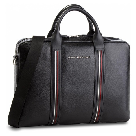 Torba na laptopa TOMMY HILFIGER - Inlay Leather Comput AW0AW03603 002