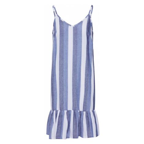 SISTERS POINT Letnia sukienka 'CAROL' niebieski / biały