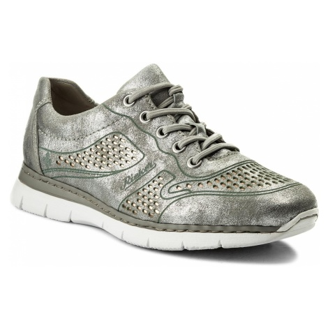 Sneakersy RIEKER - M5228-90 Silver/Platinum