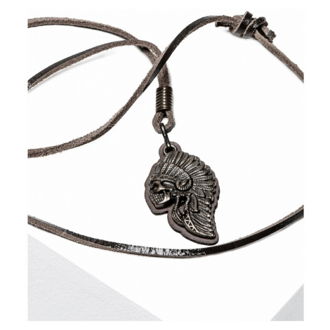 Ombre Clothing Men's necklace on the leather strap A209