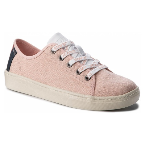 Tenisówki TOMMY JEANS - Light Textile Low EN0EN00229 Rose Cloud 646 Tommy Hilfiger