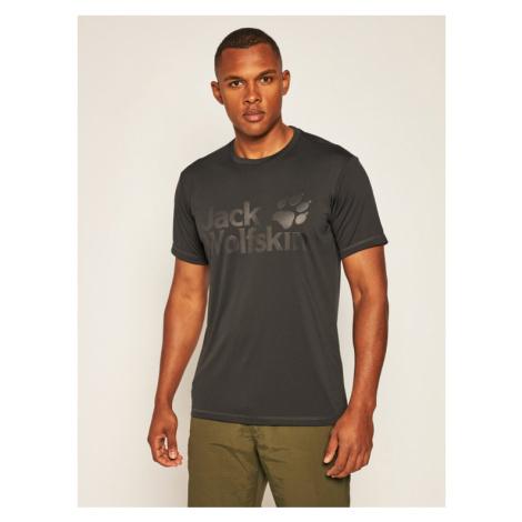 Jack Wolfskin Koszulka techniczna Sierra T 1806511 Czarny Regular Fit