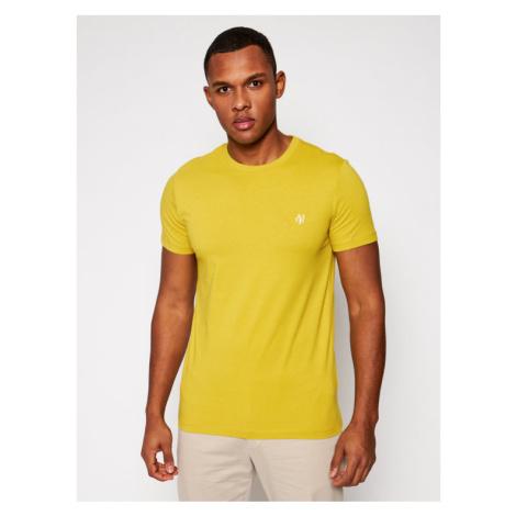 Marc O'Polo T-Shirt 121 2220 51068 Żółty Shaped Fit