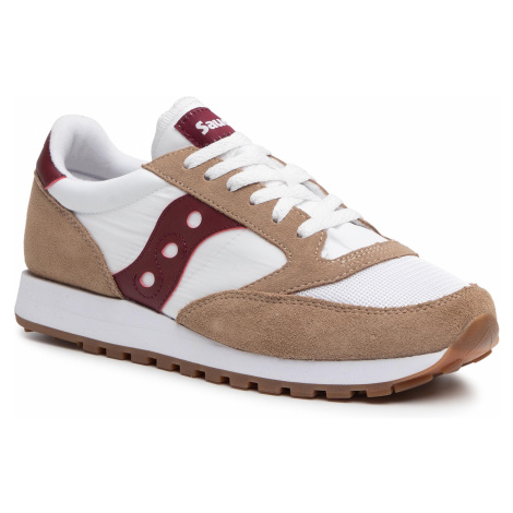 Sneakersy SAUCONY - Jazz Original S70368-11 Tan/Wht/Wine