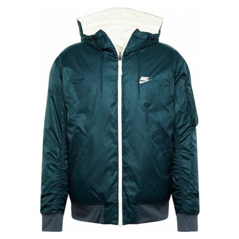 Nike Sportswear Kurtka przejściowa 'Windrunner' biały / khaki / benzyna
