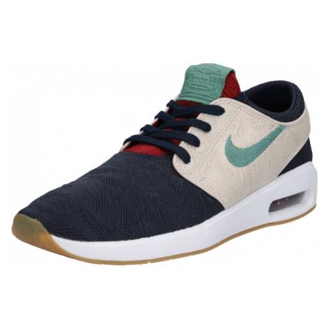 Nike SB Trampki niskie 'Air Max Janoski 2' beżowy / ciemny niebieski / zielony
