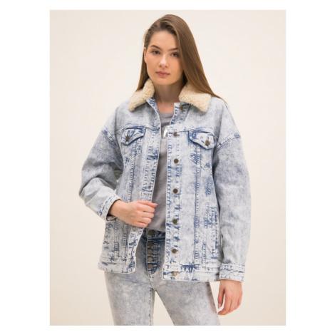 MICHAEL Michael Kors Kurtka jeansowa MH91EY5D8D Biały Regular Fit