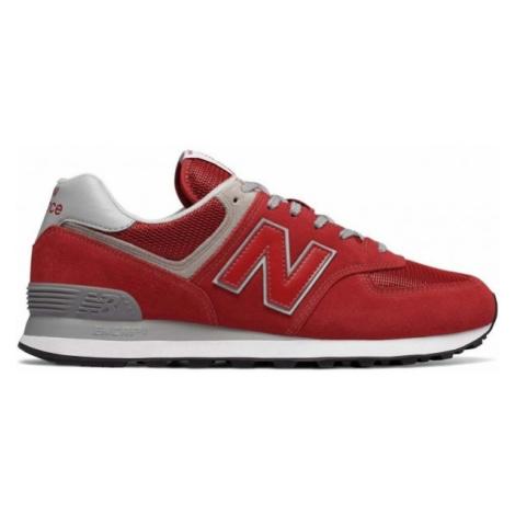 New Balance ML574ERD czerwony 11 - Obuwie miejskie męskie