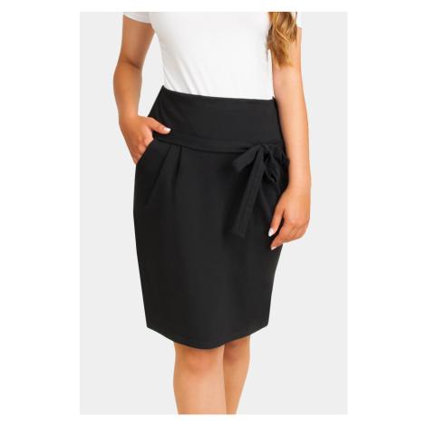 Czarne spódnice i sukienki ciążowe
