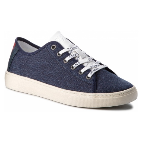 Tenisówki TOMMY JEANS - Light Textile Low EM0EM00102 Black Iris 431 Tommy Hilfiger